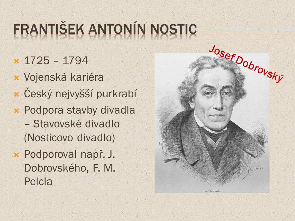  18.století  Královská česká společnost nauk – předchůdce dnešní Akademie věd  Osobnosti:  G.