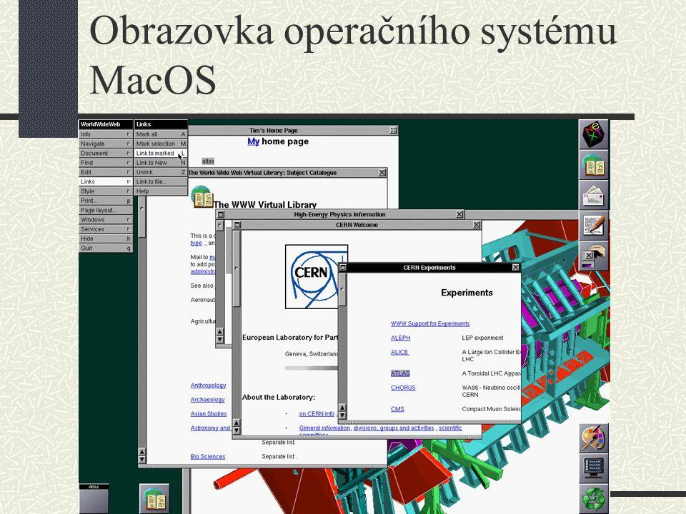Obrazovka operačního systému MacOS