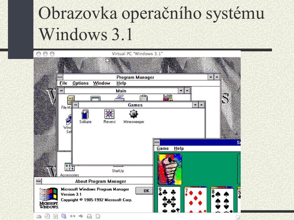 Operační systémy Windows – Windows 95 V roce 1995 přišel Microsoft s novou verzí Windows, nazvanou Windows 95 a opatřenou řadou vylepšení, např.