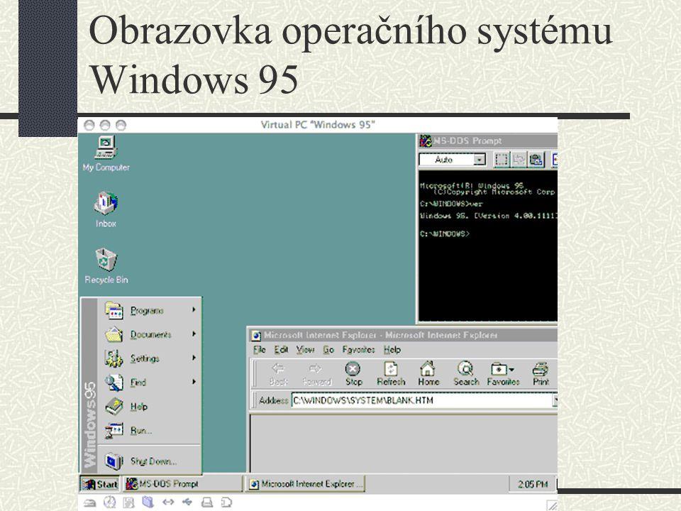 Obrazovka operačního systému Windows 95