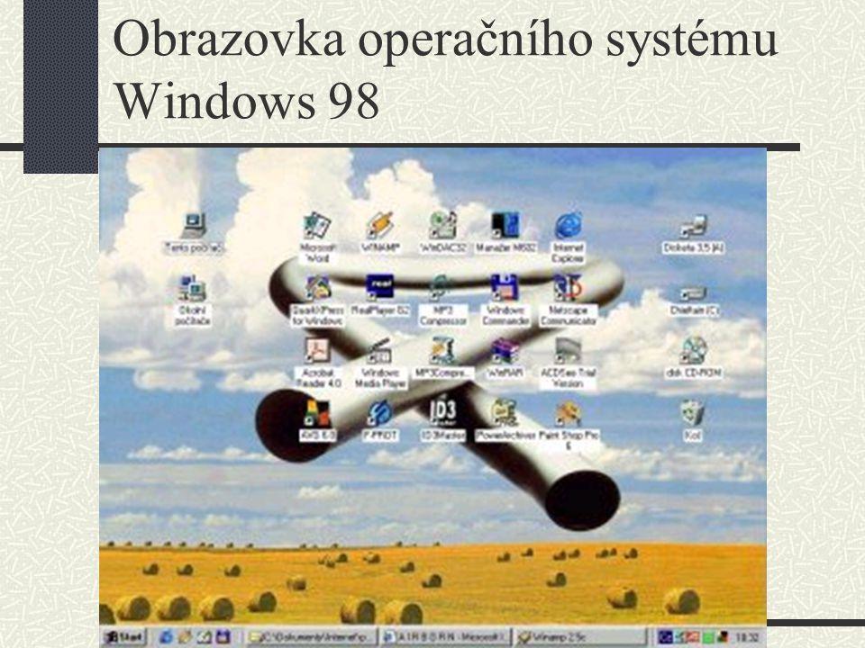 Operační systémy Windows – Windows ME Operační systém Windows ME přinesl multimediálně dokonalou vybavenost, nástroje k zabezpečení systému (PC Health) - prevence před změnami systémových souborů - návrat k předchozí konfiguraci, rychlejší bootování než Windows 98 SE, zkrácení doby vypnutí.