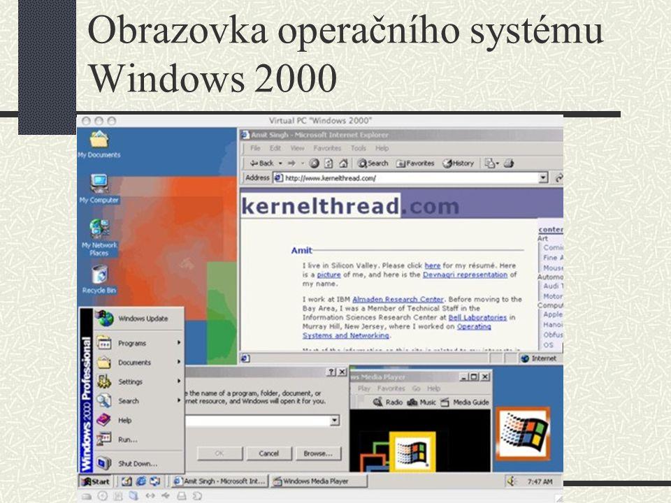 Operační systémy Windows – Windows XP Windows XP existuje ve verzích Home a Professional Edition.