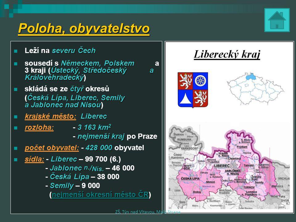 Poloha, obyvatelstvo na severu Čech Leží na severu Čech Německem,Polskem Ústecký,Středočeský a Královéhradecký sousedí s Německem, Polskem a 3 kraji (