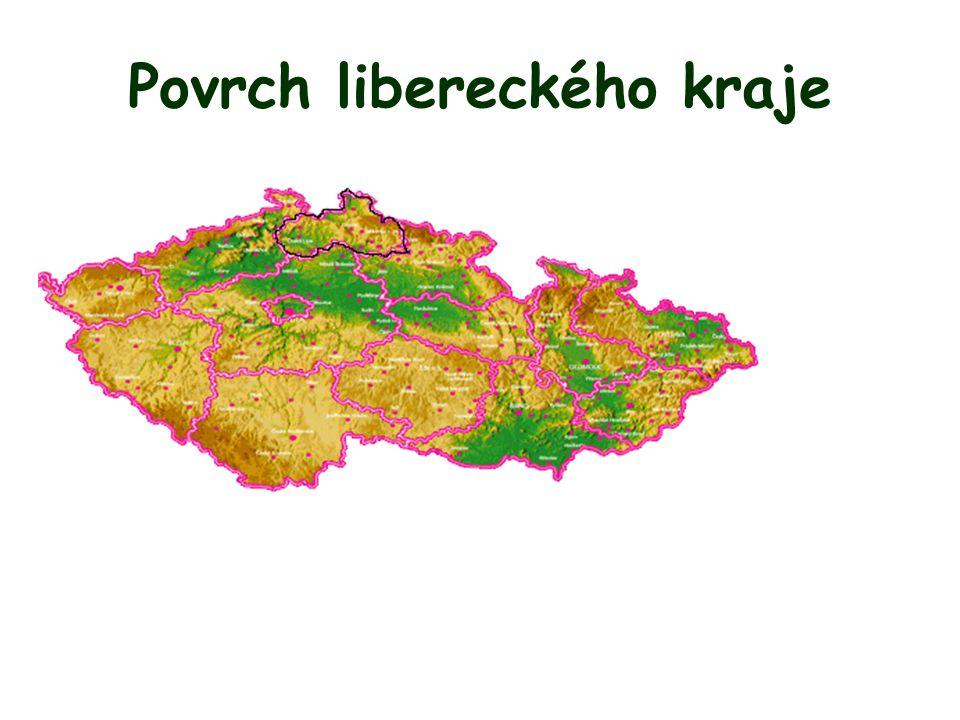 Povrch libereckého kraje
