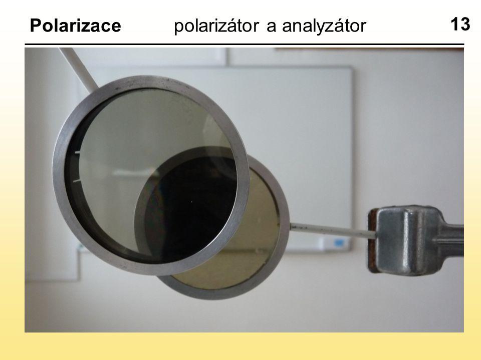 13 Polarizacepolarizátor a analyzátor