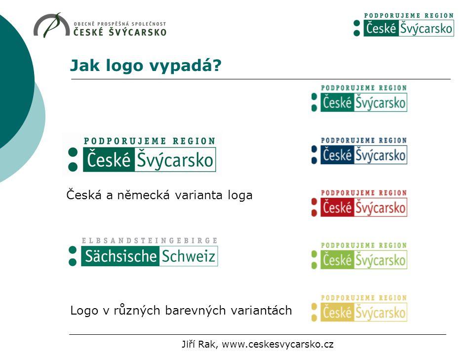 Jak logo vypadá? Logo v různých barevných variantách Česká a německá varianta loga Jiří Rak, www.ceskesvycarsko.cz