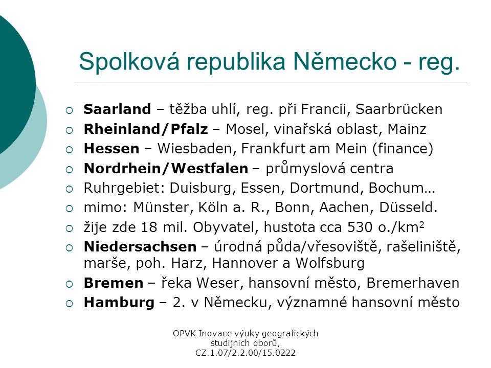 """Slovensko - regiony  1996 nové kraje (NUTS 3, přiznána i samospráva), pro EU nutné sdružení (NUTS 2), i nové okresy  Bratislavský kraj – Bratislava a příměstská zóna  intenzivní vazba Bratislavy s Vídní, excentricita, Dunaj, chemický a elektrotechnický průmysl, high-tech, vinařská oblast – Malé Karpaty, terciér  Západné Slovensko – Trnavský, Trenčínský a Nitrianský kraj, zemědělství i průmysl, Trnava – auta, """"Řím – římskokatolická církev, Trenčín – Váh, Nitra – nejstarší na SVK - veletrhy, jaderné el., maďarská menš."""