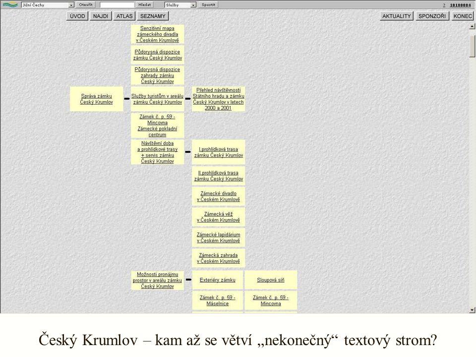 """Český Krumlov – kam až se větví """"nekonečný textový strom"""