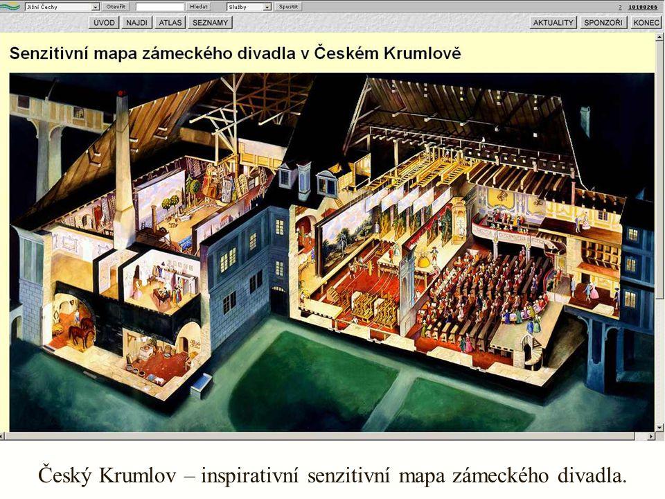 Český Krumlov – inspirativní senzitivní mapa zámeckého divadla.