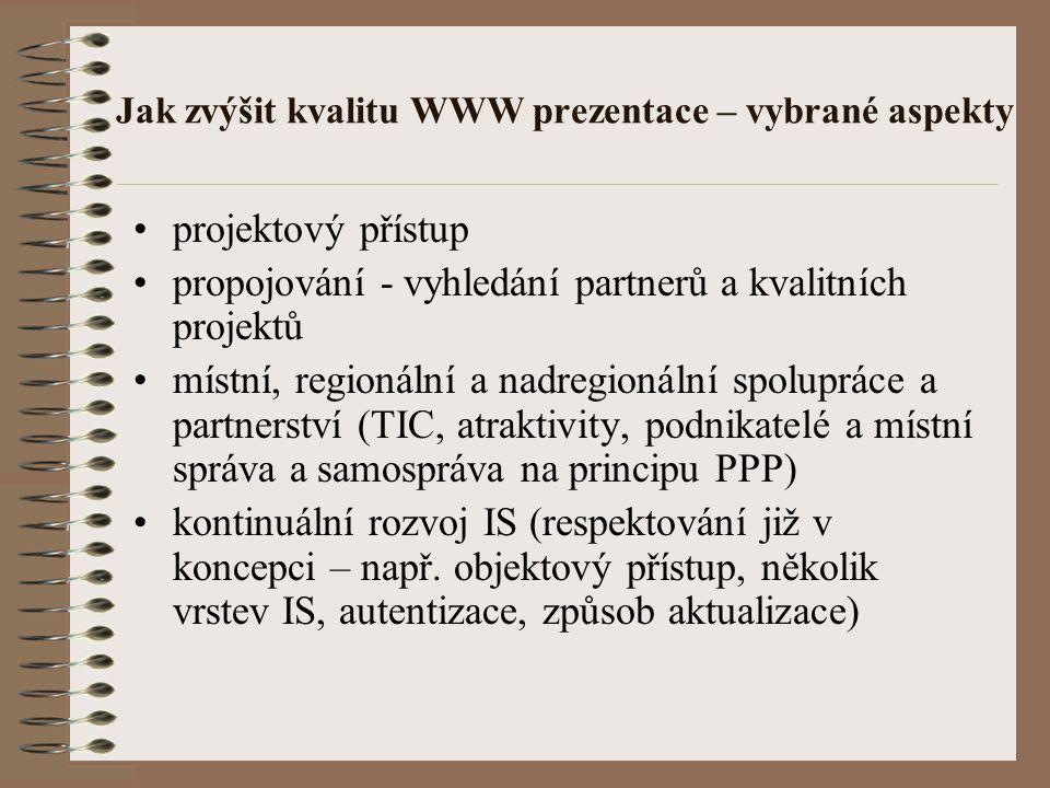 Využití odkazů na vhodně navržený projekt. Památky ČR