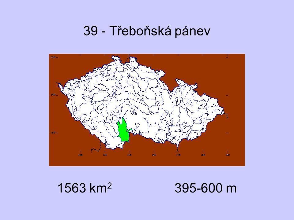 39 - Třeboňská pánev 1563 km 2 395-600 m