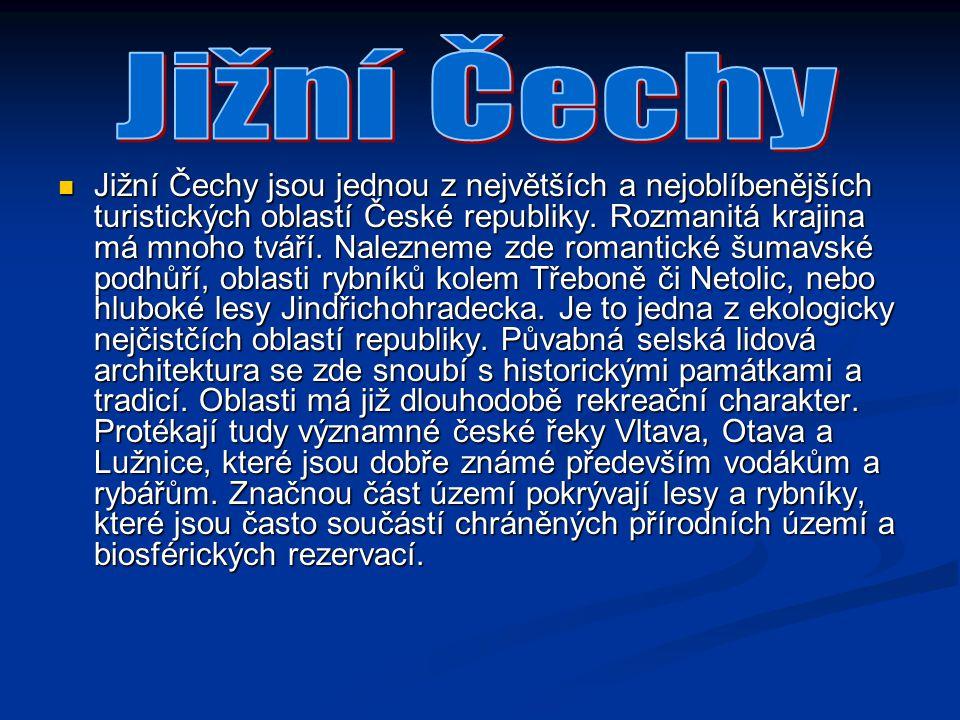 Jižní Čechy jsou jednou z největších a nejoblíbenějších turistických oblastí České republiky. Rozmanitá krajina má mnoho tváří. Nalezneme zde romantic