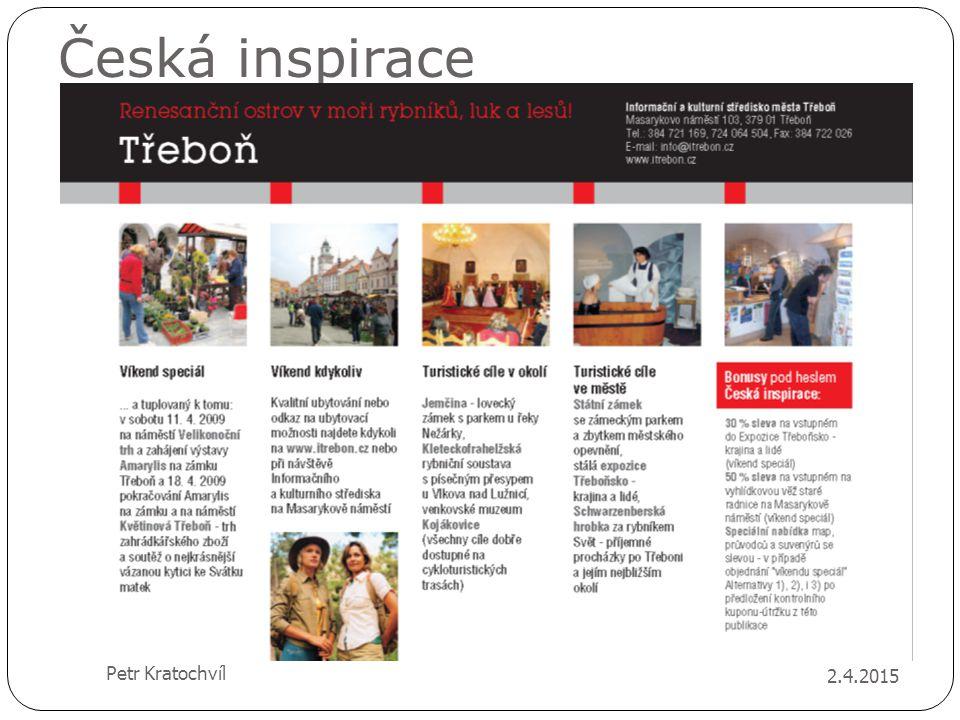 Česká inspirace 2.4.2015 Petr Kratochvíl