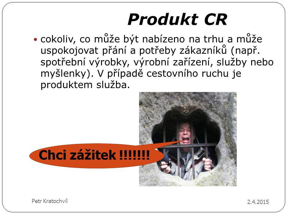 Produkt CR 2.4.2015 Petr Kratochvíl cokoliv, co může být nabízeno na trhu a může uspokojovat přání a potřeby zákazníků (např. spotřební výrobky, výrob