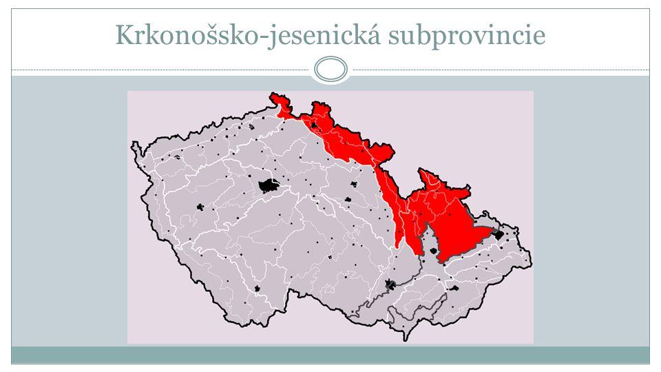 Členění 1.Krkonošská oblast Krkonošská oblast a. Lužické hory Lužické hory b.