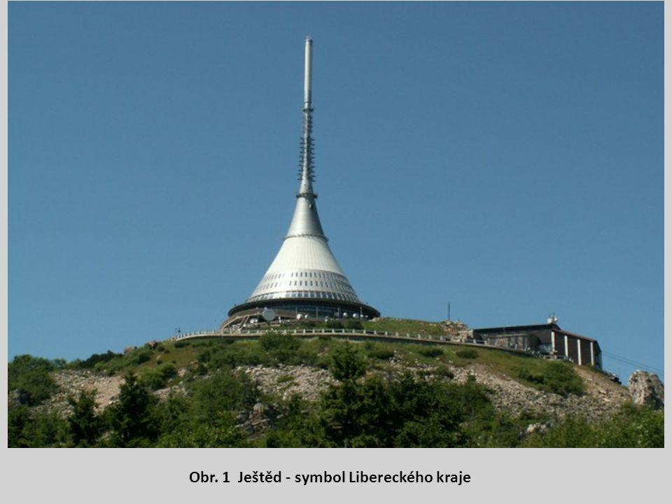 Obr. 1 Ještěd - symbol Libereckého kraje