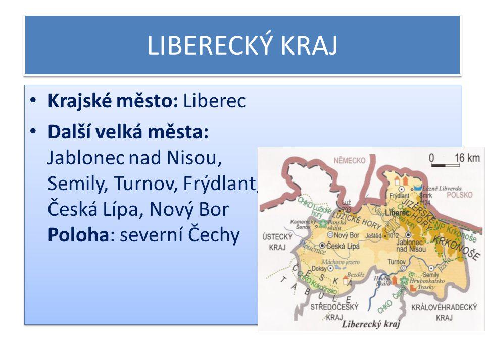 Liberecký kraj - povrch V jižní části se rozprostírá Česká tabule.