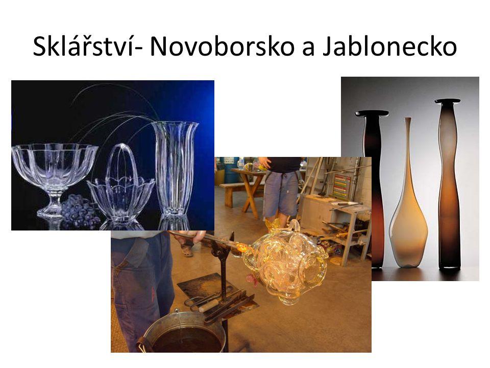 Liberecký kraj - průmysl Rozvinut je především sklářský, keramický, strojírenský a textilní průmysl.