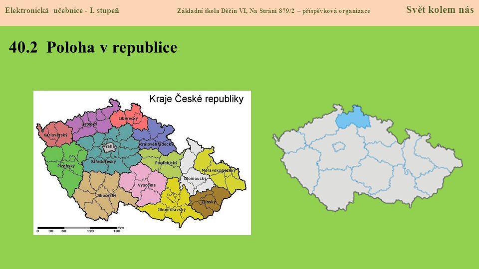 40.3 Sídlo, povrch a vodstvo kraje Elektronická učebnice - I.