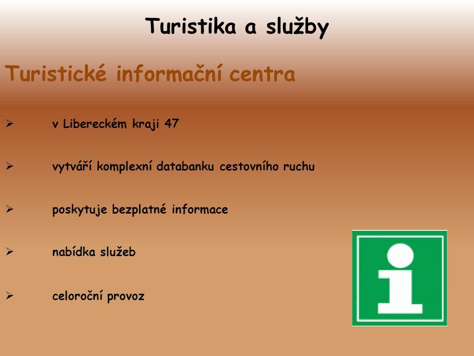 Turistika a služby Turistické informační centra  v Libereckém kraji 47  vytváří komplexní databanku cestovního ruchu  poskytuje bezplatné informace