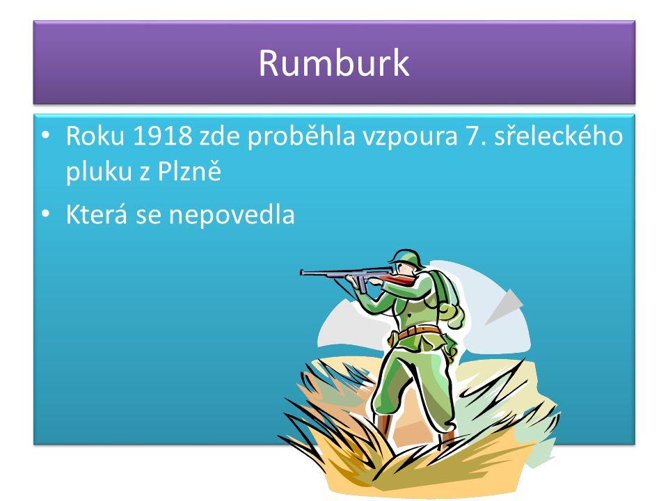 Rumburk Roku 1918 zde proběhla vzpoura 7.