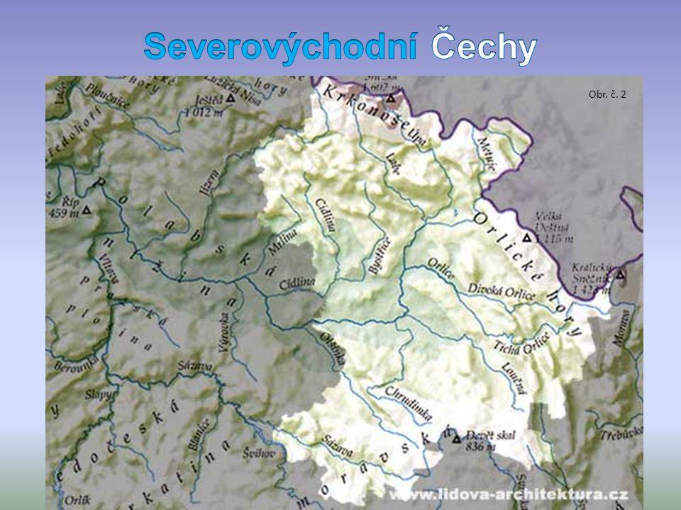 povrch Jizerské hory (Smrk) Lužické hory - pohraniční hory Krkonoše (Sněžka 1602m) řeky Jizera Labe Ploučnice