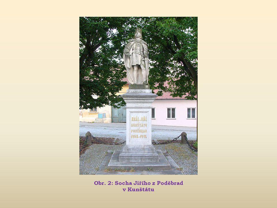 Obr. 2: Socha Jiřího z Poděbrad v Kunštátu