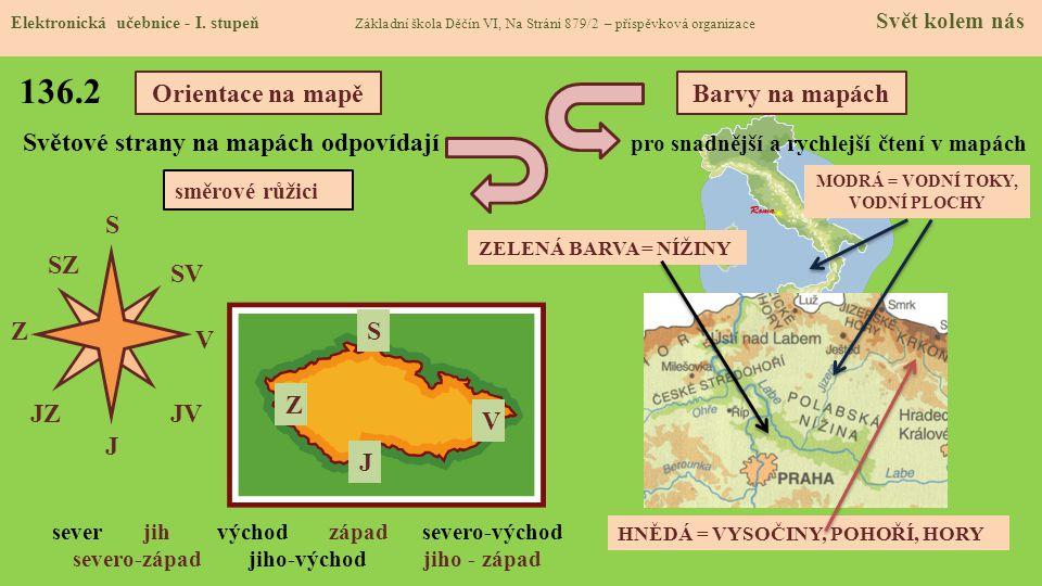 136.1 Slepé mapy – Česká republika - zásobník Elektronická učebnice - I.