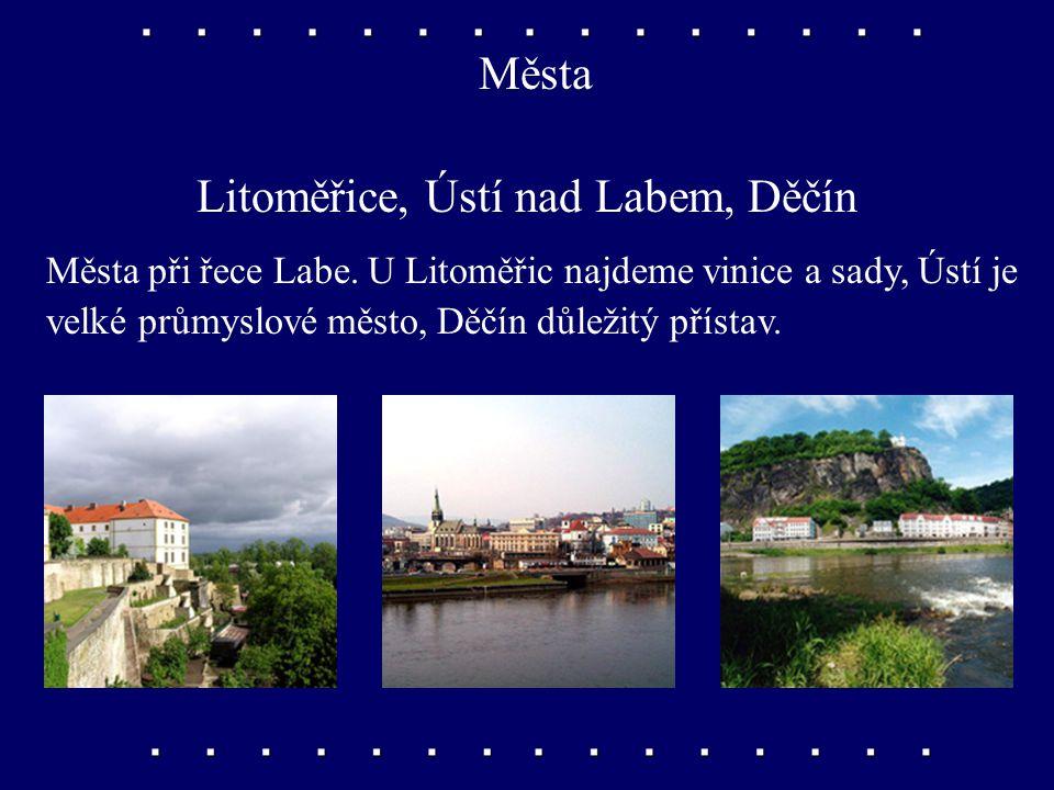 Města Liberec, Jablonec nad Nisou Liberec je střediskem textilního průmyslu, v nedalekém Jablonci se vyrábí skleněná bižuterie.