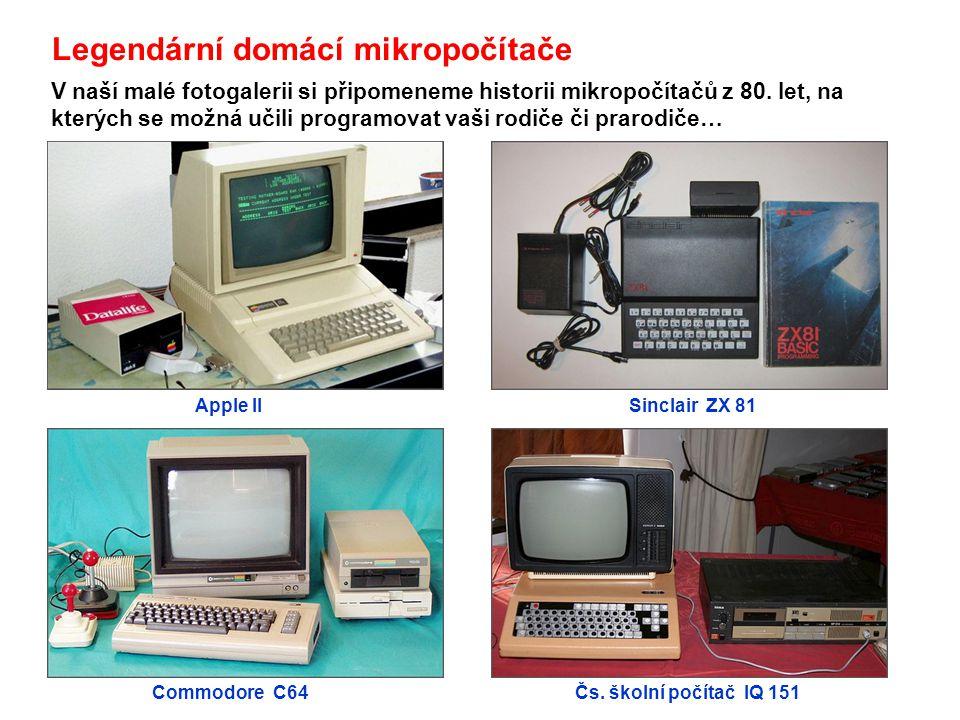 Legendární domácí mikropočítače V naší malé fotogalerii si připomeneme historii mikropočítačů z 80. let, na kterých se možná učili programovat vaši ro