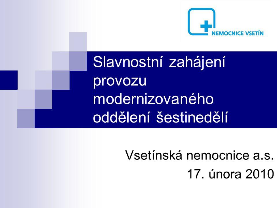 Slavnostní zahájení provozu modernizovaného oddělení šestinedělí Vsetínská nemocnice a.s.