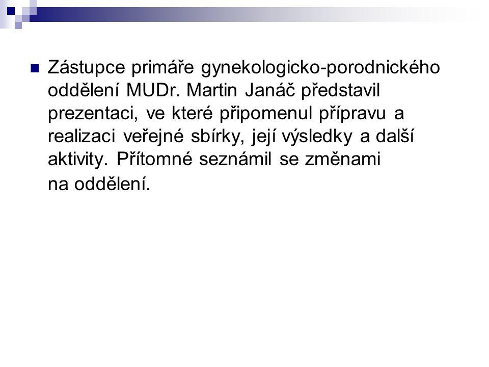 Zástupce primáře gynekologicko-porodnického oddělení MUDr.