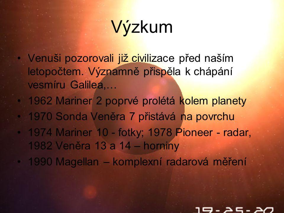 Výzkum Venuši pozorovali již civilizace před naším letopočtem.