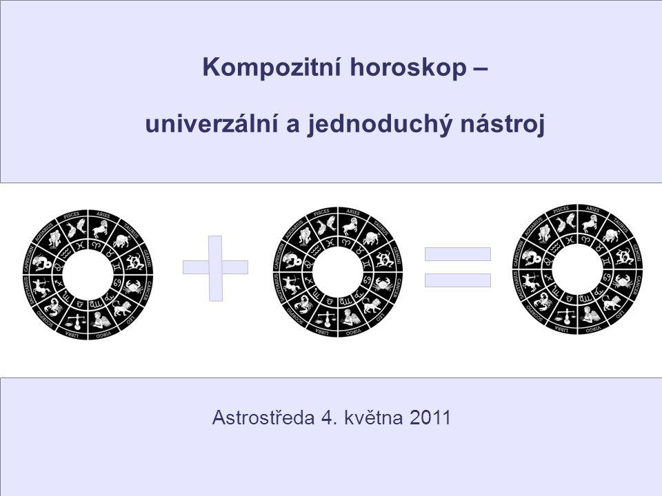 Základní význam kompozitních horoskopů Kompozit je forma ukotvení okamžiku k osobě Samotný horoskop okamžiku může mít mnoho významů – v jednu chvíli se narodí dítě, někdo bourá v autě, politici udělají dohodu...