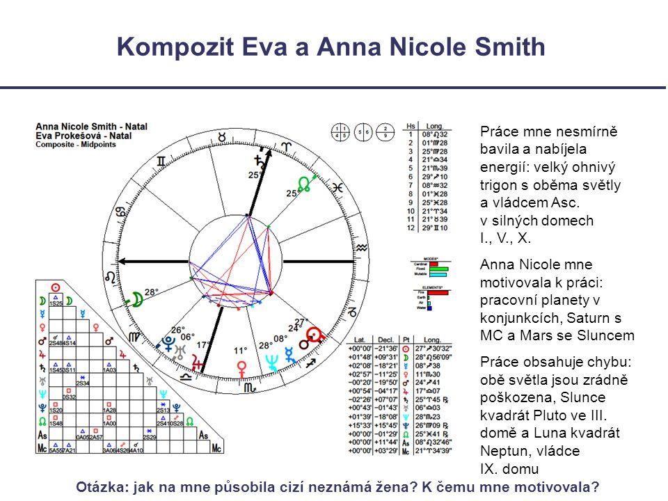 Kompozit Eva a Anna Nicole Smith Práce mne nesmírně bavila a nabíjela energií: velký ohnivý trigon s oběma světly a vládcem Asc.