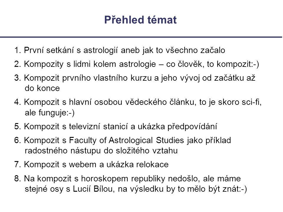 Kompozit Eva (Praha) a Faculty of Astrological Studies Otázka: o čem je náš vztah.