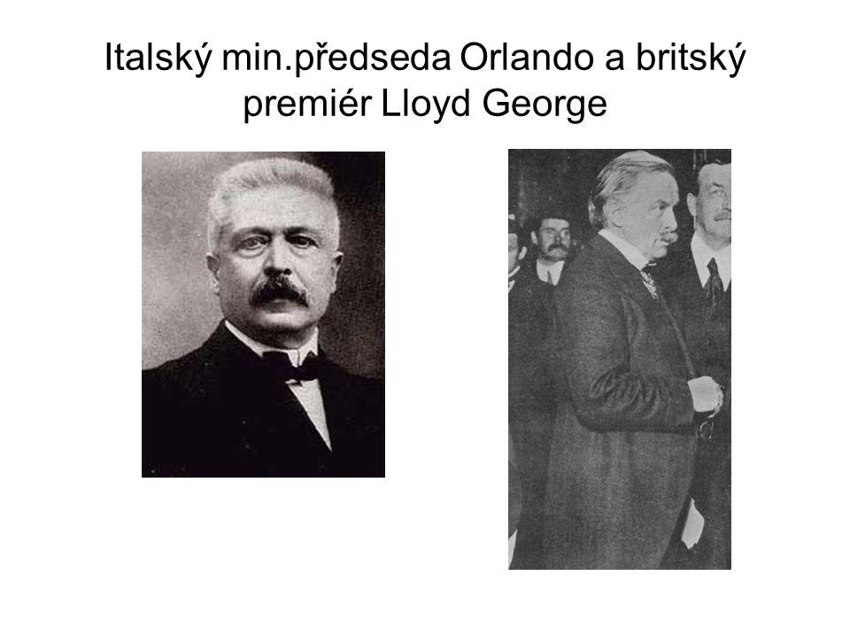 Italský min.předseda Orlando a britský premiér Lloyd George