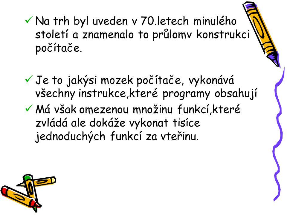 Na trh byl uveden v 70.letech minulého století a znamenalo to průlomv konstrukci počítače.