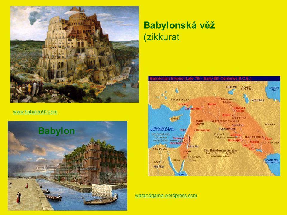 www.babylon90.com Babylonská věž (zikkurat Babylon warandgame.wordpress.com