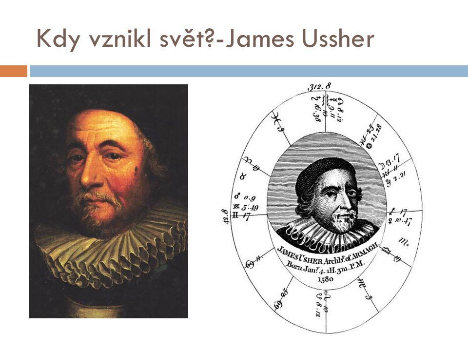 Kdy vznikl svět?-James Ussher