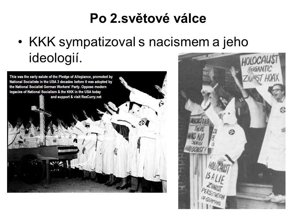 Po 2.světové válce KKK sympatizoval s nacismem a jeho ideologií.