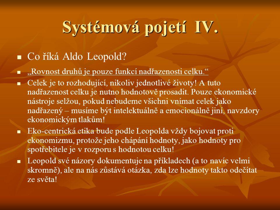 """Systémová pojetí V.W. R. Catton """"Přestřeleno Myšlenky A."""