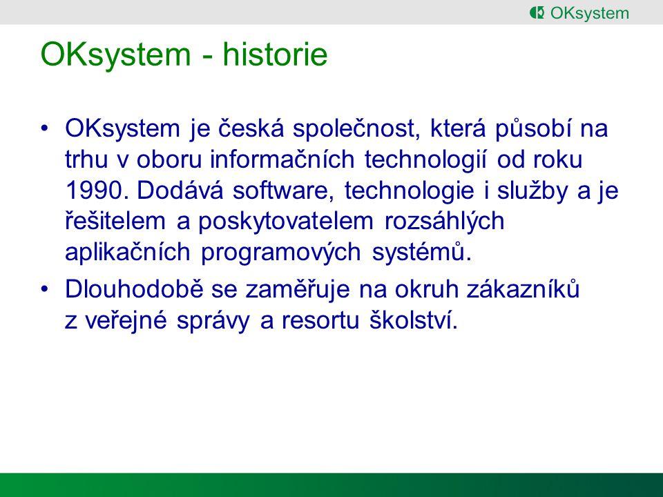 OKsystem - historie OKsystem je česká společnost, která působí na trhu v oboru informačních technologií od roku 1990.