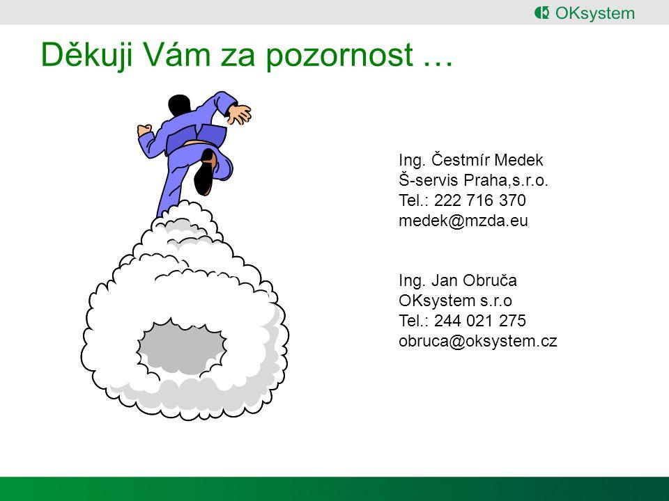 Děkuji Vám za pozornost … Ing.Čestmír Medek Š-servis Praha,s.r.o.