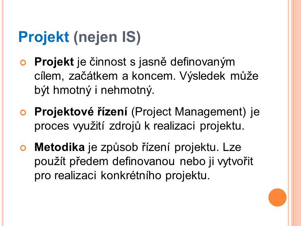 Projekt je činnost s jasně definovaným cílem, začátkem a koncem.