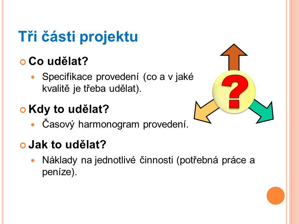 Co udělat.Specifikace provedení (co a v jaké kvalitě je třeba udělat).
