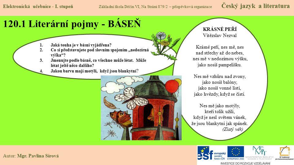 120.2 Literární pojmy- POVÍDKA Elektronická učebnice - I.