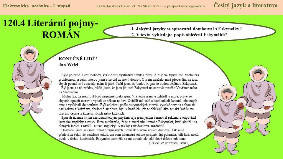 120.5 Literární pojmy- BALADA Elektronická učebnice - I.