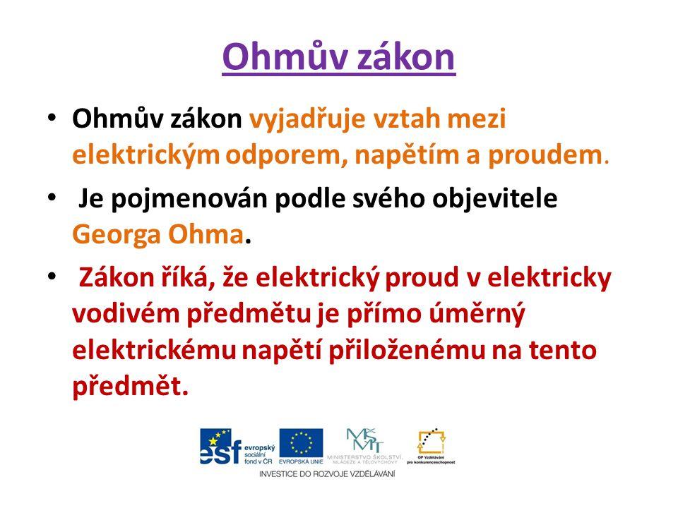 Měření elektrického odporu Elektrický odpor se měří digitálním nebo analogovým měřícím přístrojem nebo Ohmovou metodou.