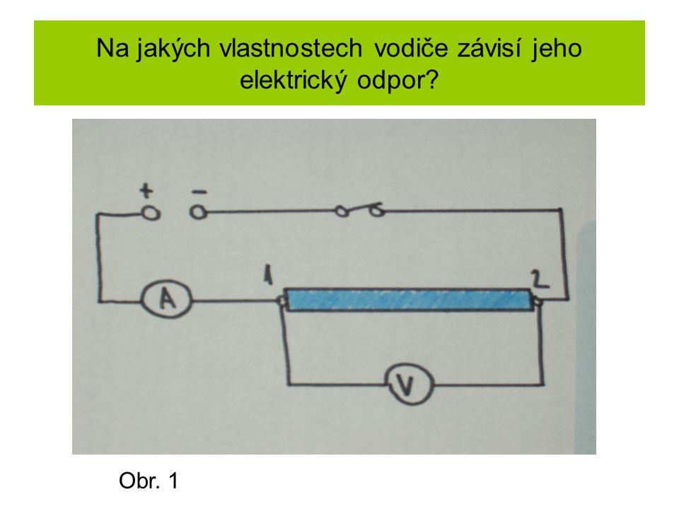 Na jakých vlastnostech vodiče závisí jeho elektrický odpor? Obr. 1